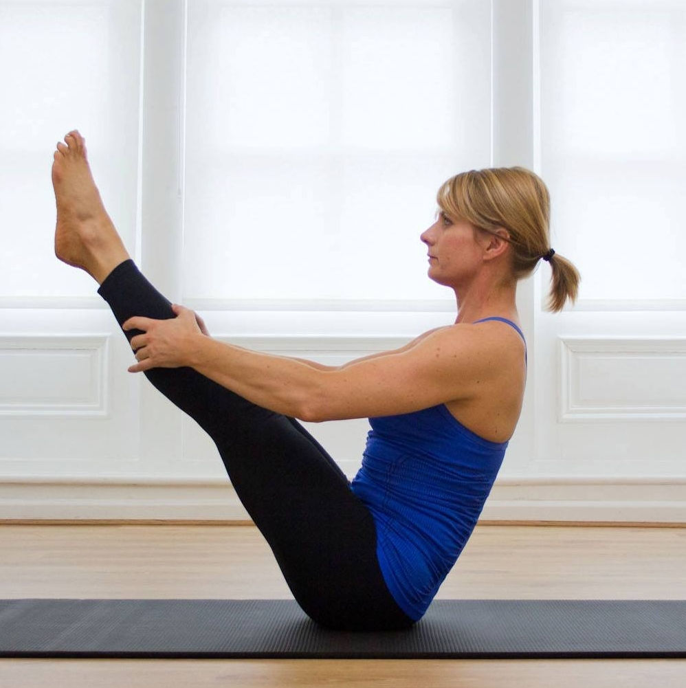 """The """"Teaser"""" is a Advanced Pilates Mat exercise and can take some clients upto 1 year to achieve this safely."""