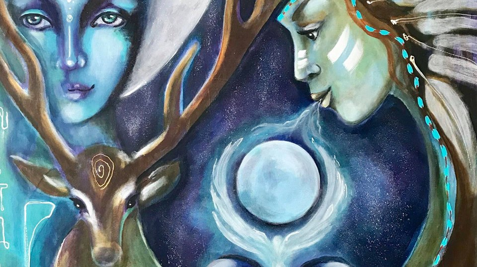 Summer retreat: - Art and shamanic teachingThe woman in the medicinwheel5-10 august 2019Call or write for more info