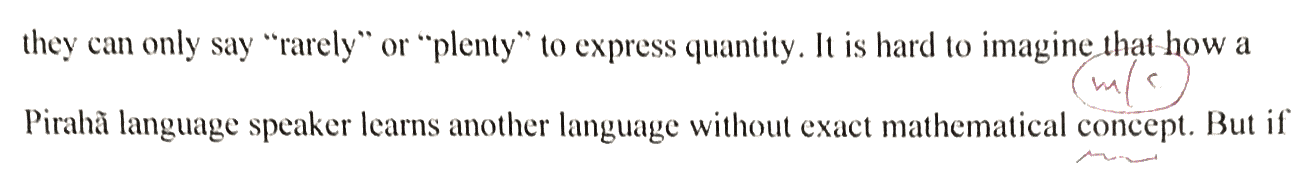 . . . without exact mathematical concept s   (concept is only a count noun)