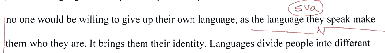 the language they speak  makes them who they are  OR  the language s  they speak  make them who they are