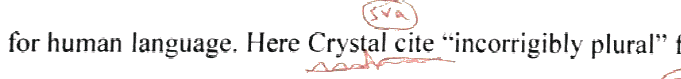 Here Crystal  cites