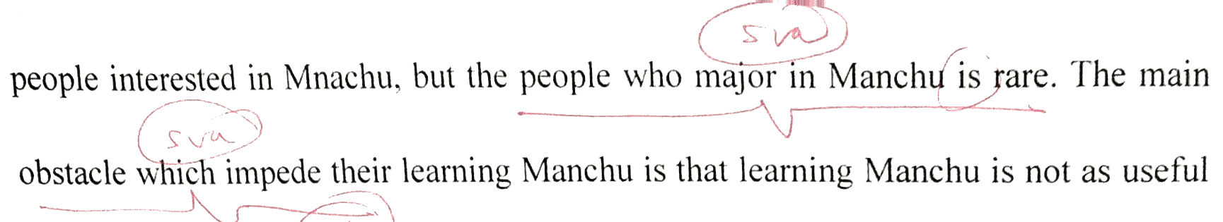people who major in Manchu  are  rare . . . the main obstacle that impede s