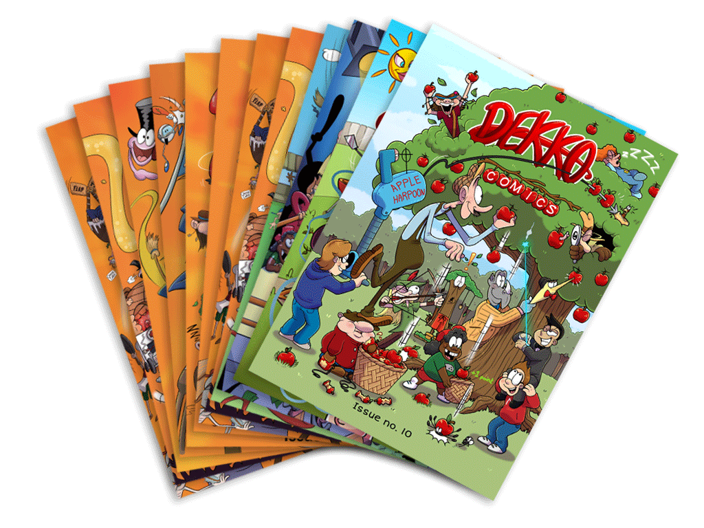 Order a full set of 12 comics at a cost of £5.50 per comic