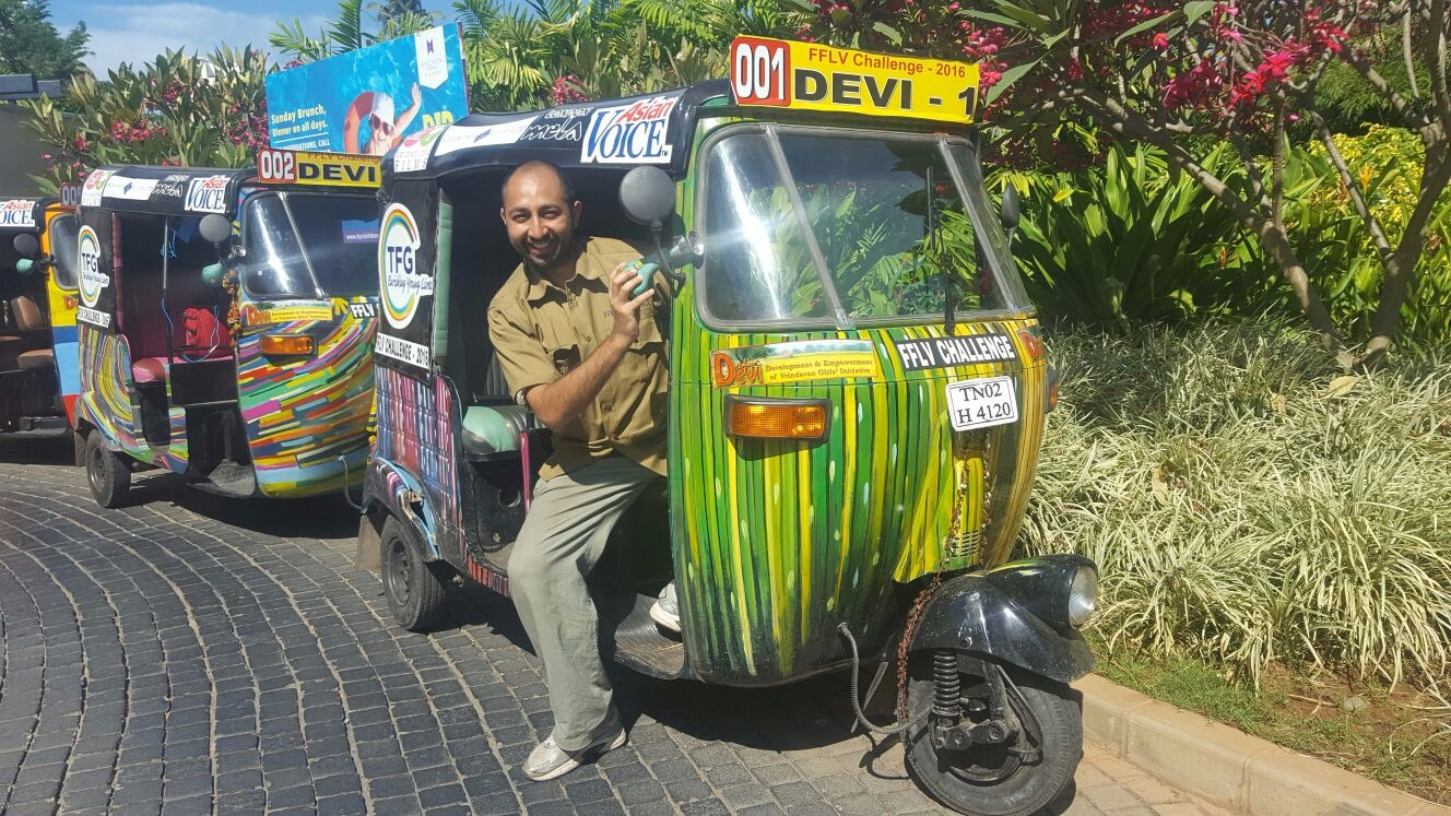 Pramal on an 1,800km Tuk-Tuk challenges across India, successfully completed.