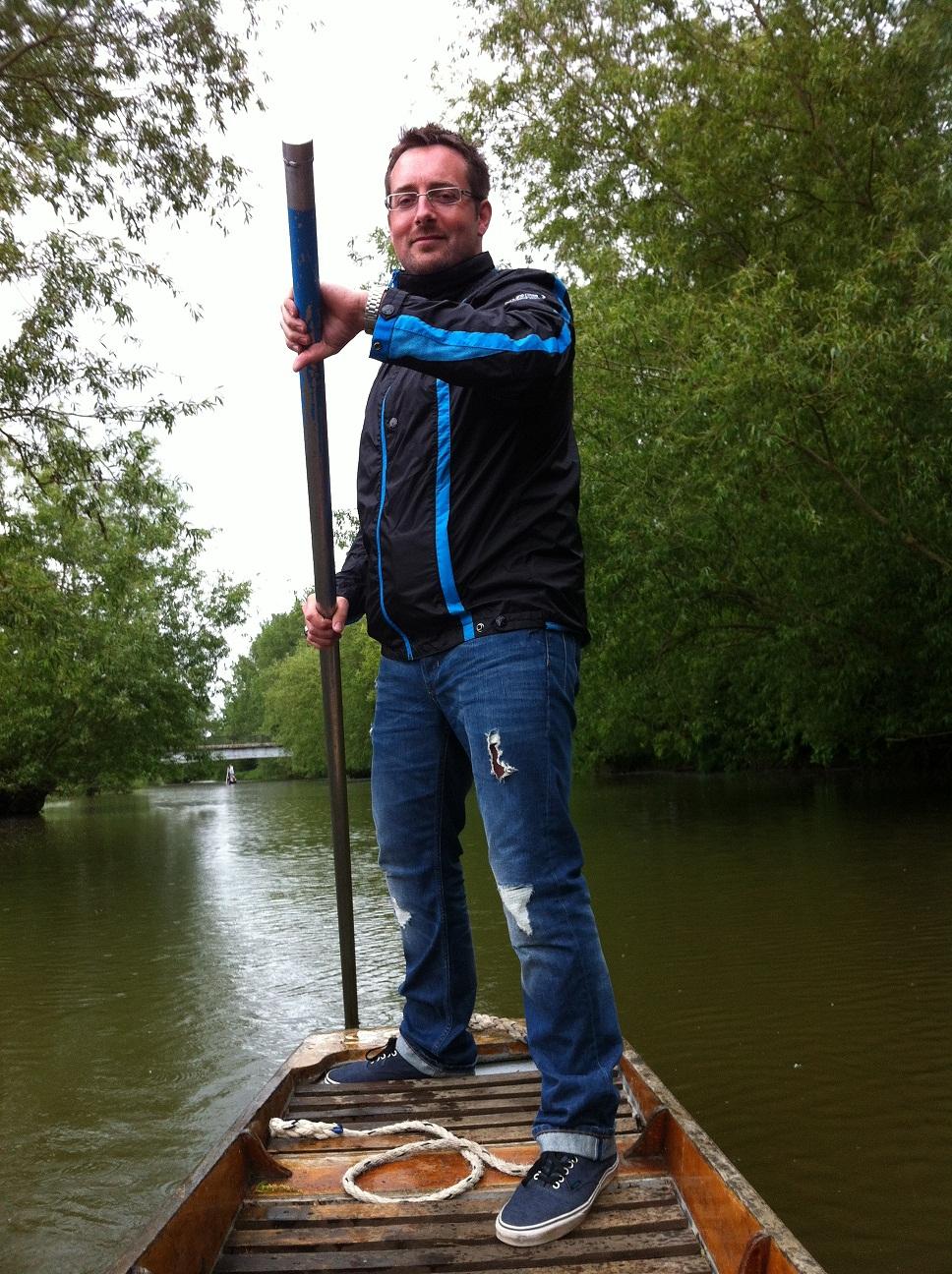 James Perryman, Handpicked Society member, punting.
