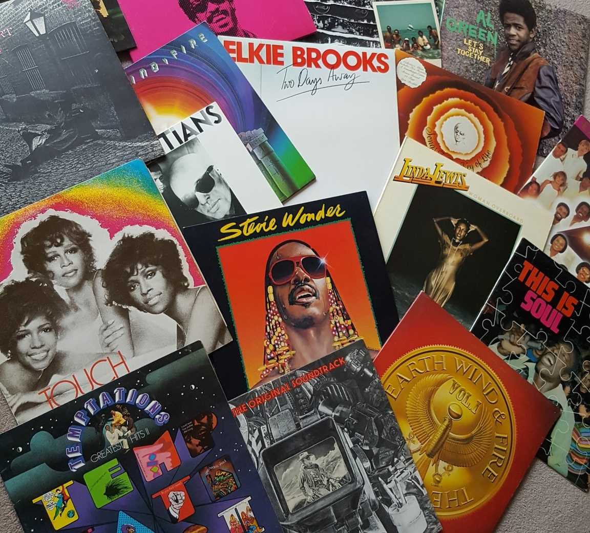 A collection of covers of LPs featuring Stevie Wonder, Earth Wind & Fire, Temptations and many more!