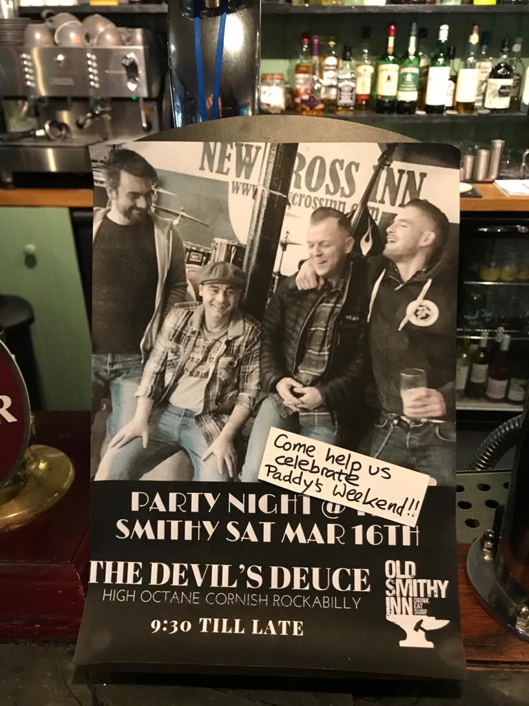 kickstarting our paddy's weekend with the devil's deuce