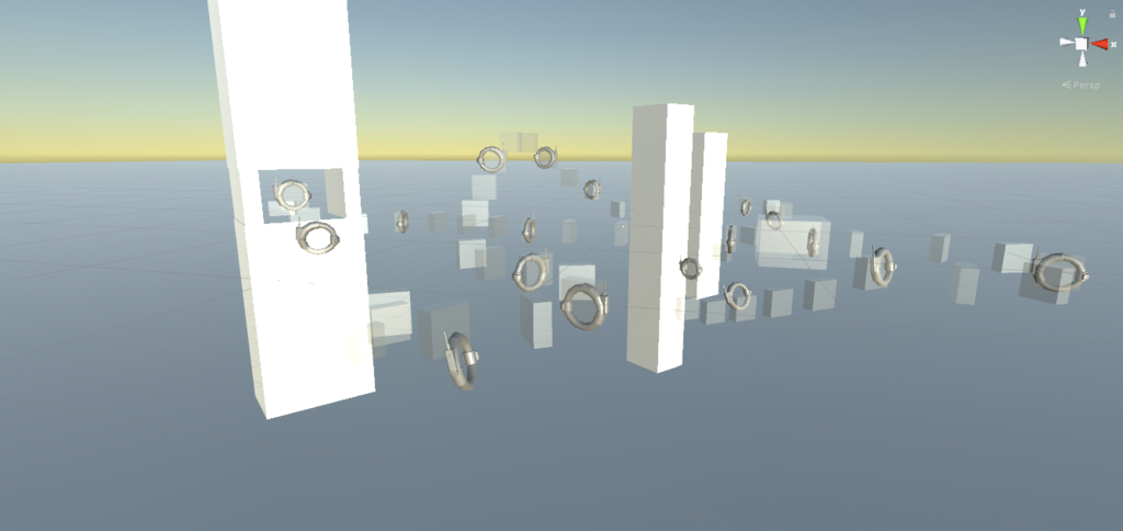 First iteration of the level that I made the first week. We quickly had rings in the game, which made creating the levels easier.