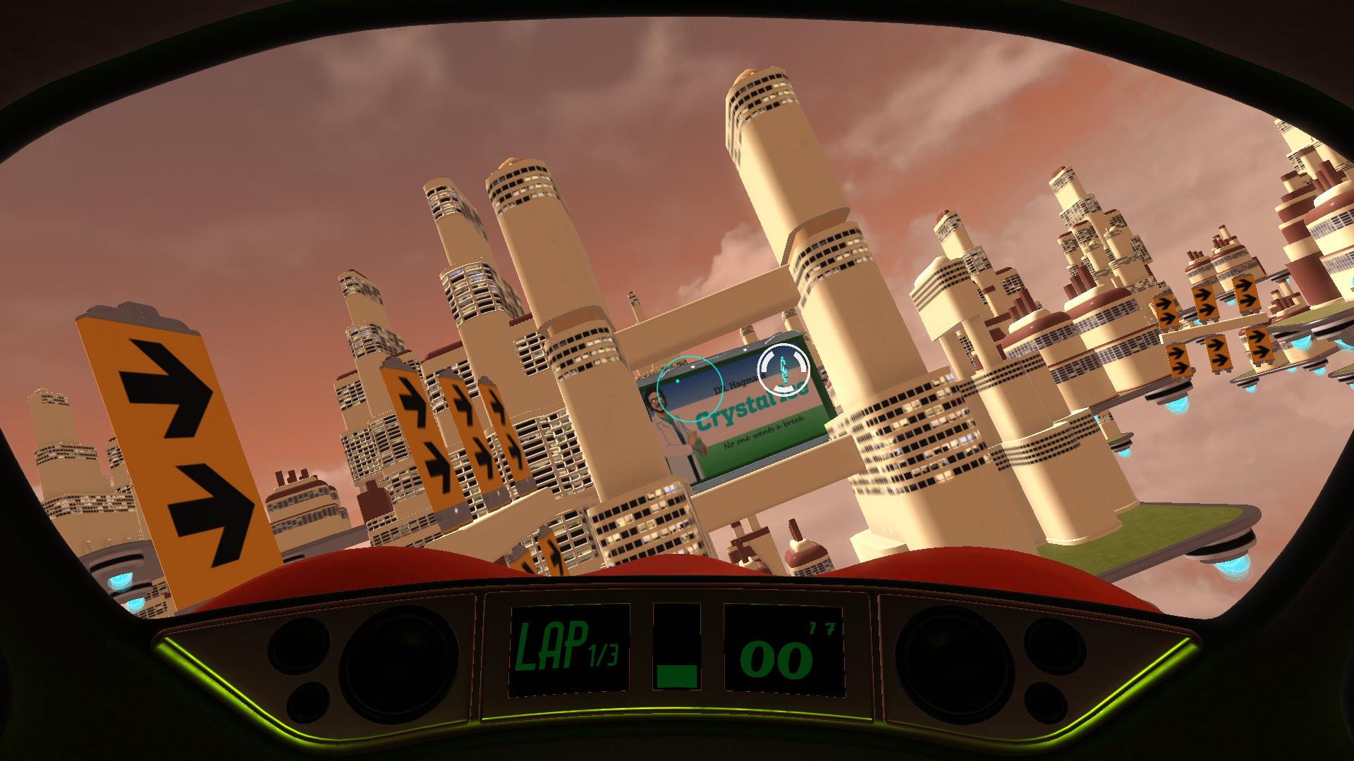 Final screenshot from the game, the same level. It changed a lot during the development!