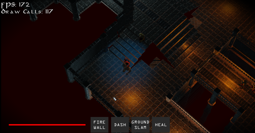 Experimenting with lighting in the beta stage of the game. We later settled on something similar to this.