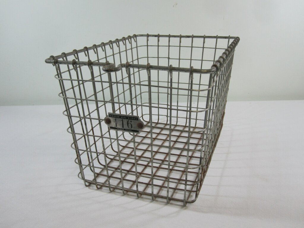 Locker Basket - Description ~ old-style basket to stow your gear at the gym. Stow programs, hand fans, flowers or other displays!Quantity ~ 3Price ~ $10