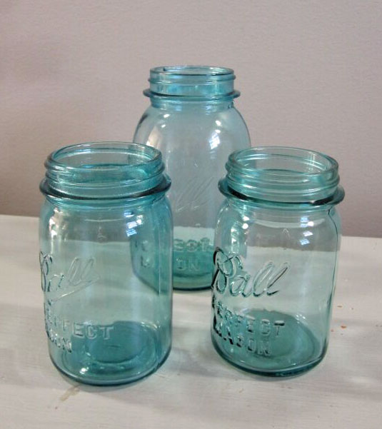 Mason Jars - Description ~ pint & quart mason jars in blue or clearQuantity ~ 100+Price ~ $1
