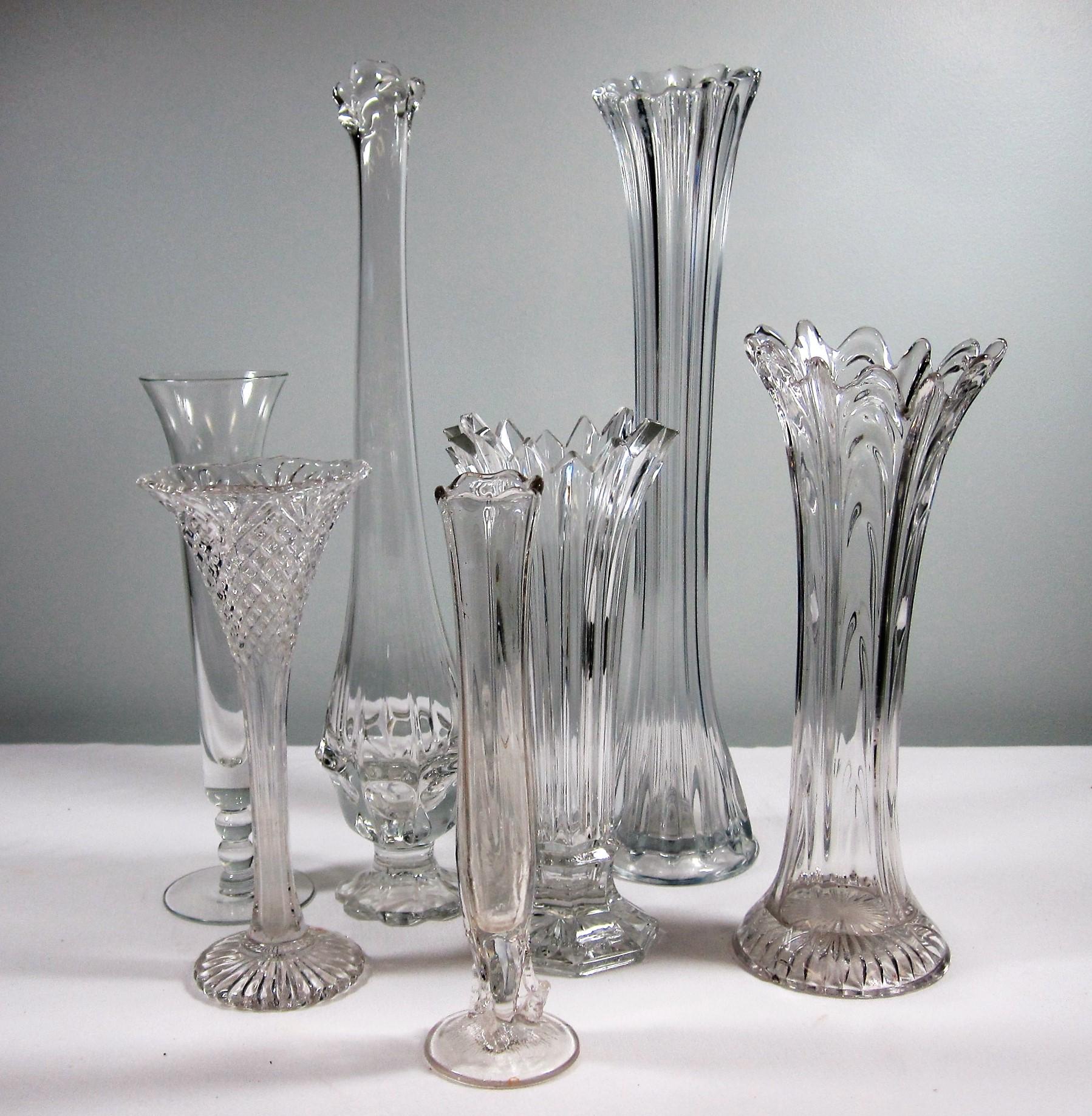 "Vases - Description ~ ""flare top"" vasesQuantity ~ 10Price ~ $3 - $6"