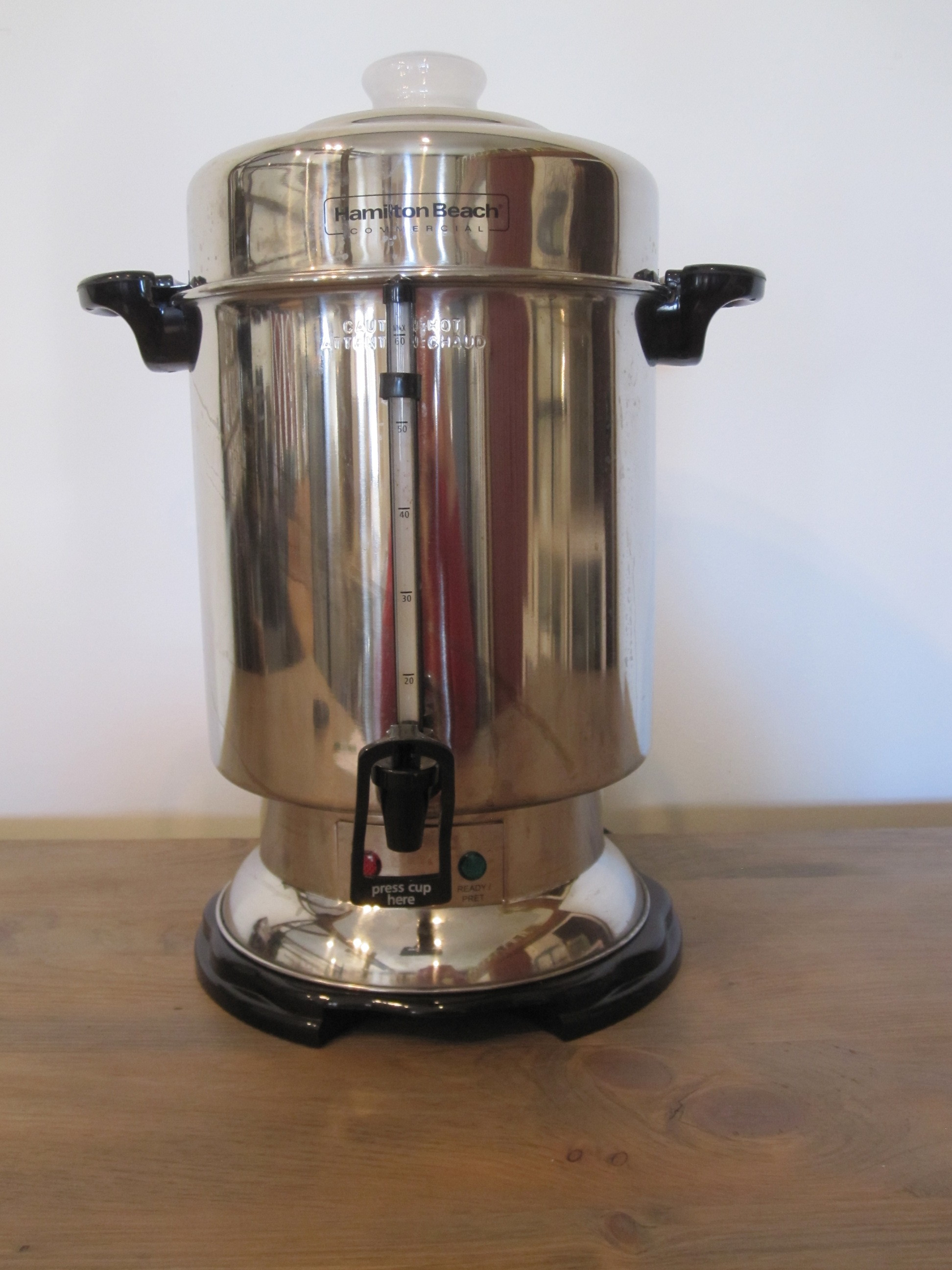 Coffee Brewer - Description ~ 55 gallon coffeemaker; electricQuantity ~ 1Rental Price ~ $15