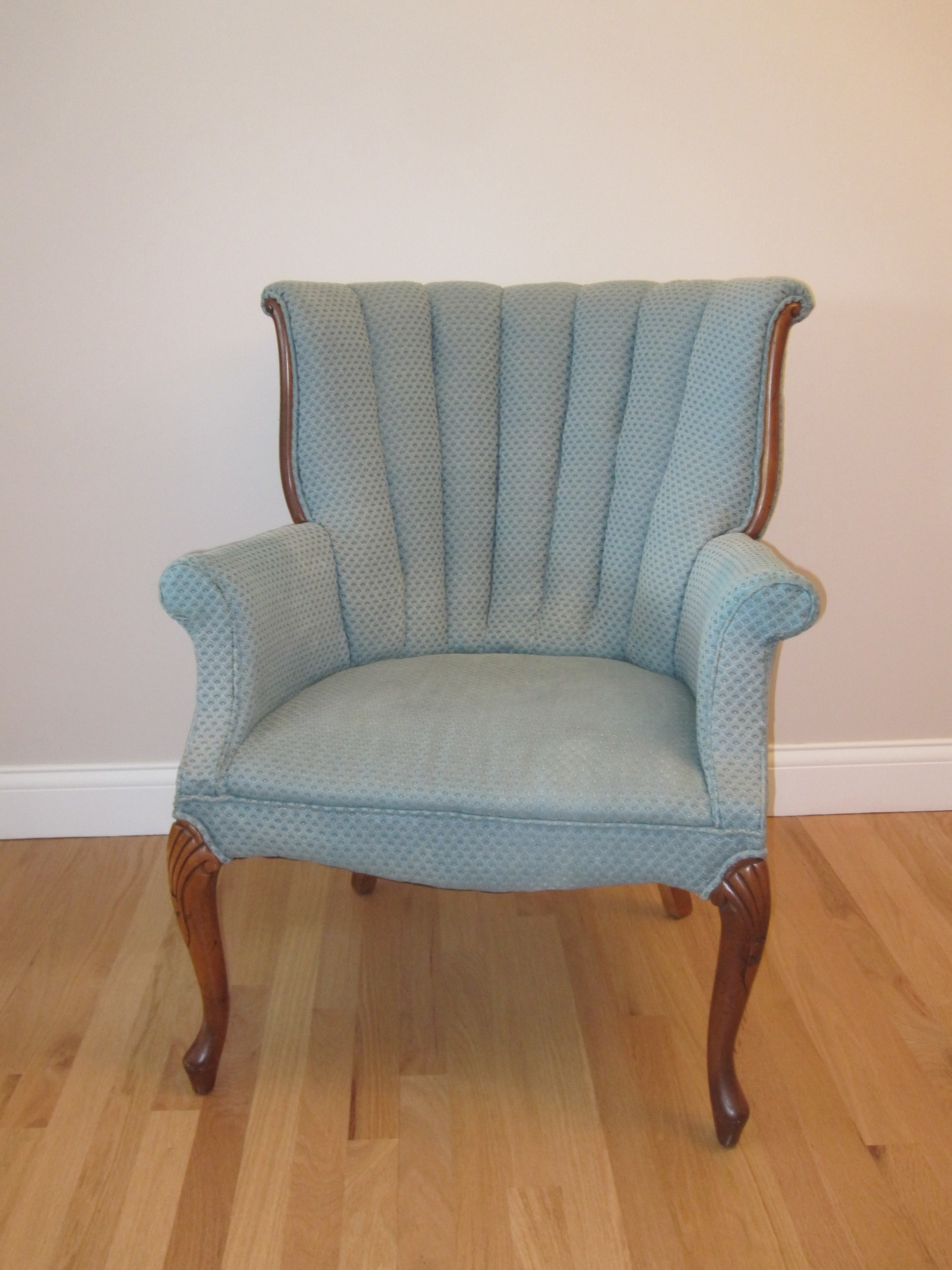 Hazel Chairs - Description ~ pair of blue upholstered chairs; Mr & Mrs seats for head tableQuantity ~ 2Rental Price ~ $20