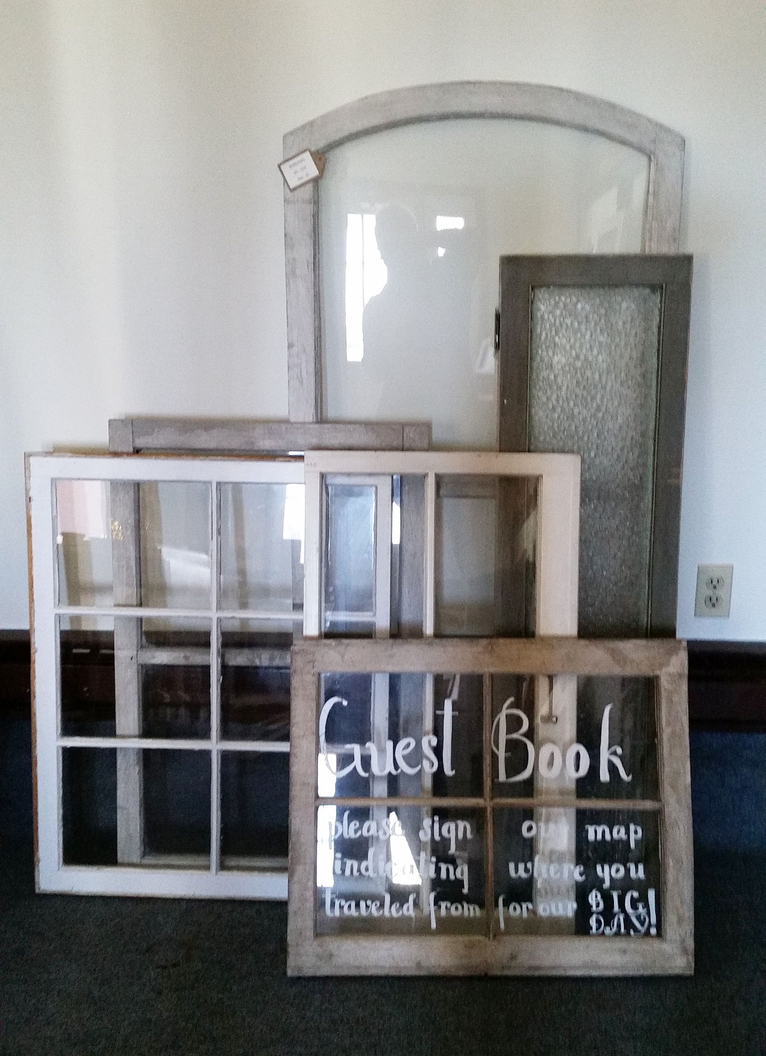 Vintage Windows - Description ~ variety of shapes & sizes can be used for signs or as accentsQuantity ~ 20Price ~ $5-$10