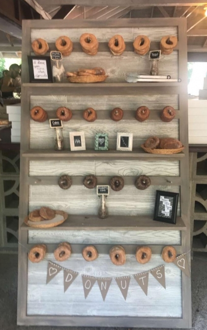 Donut Wall - Description~ Donuts are the new favorite for dessert or late night snack. Attractively display yours along with some cute signs on our wall!Quantity ~ 1Rental Price ~ $35
