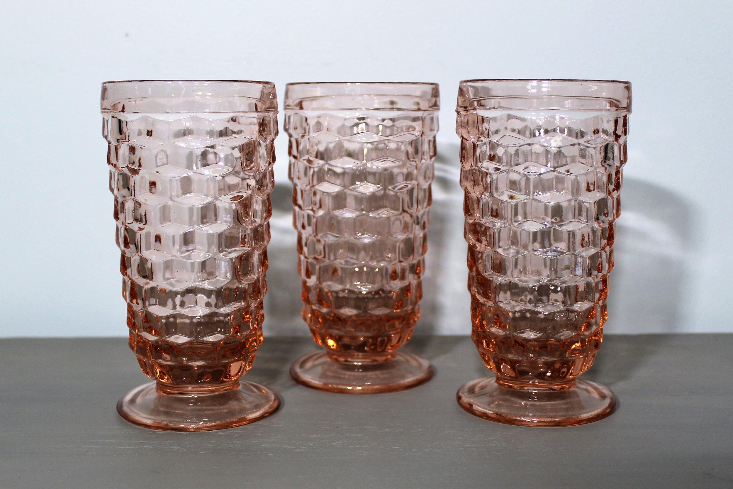 Pink Goblets - Description ~ lovely set of light pink glasswareQuantity ~ 20Price ~ $2