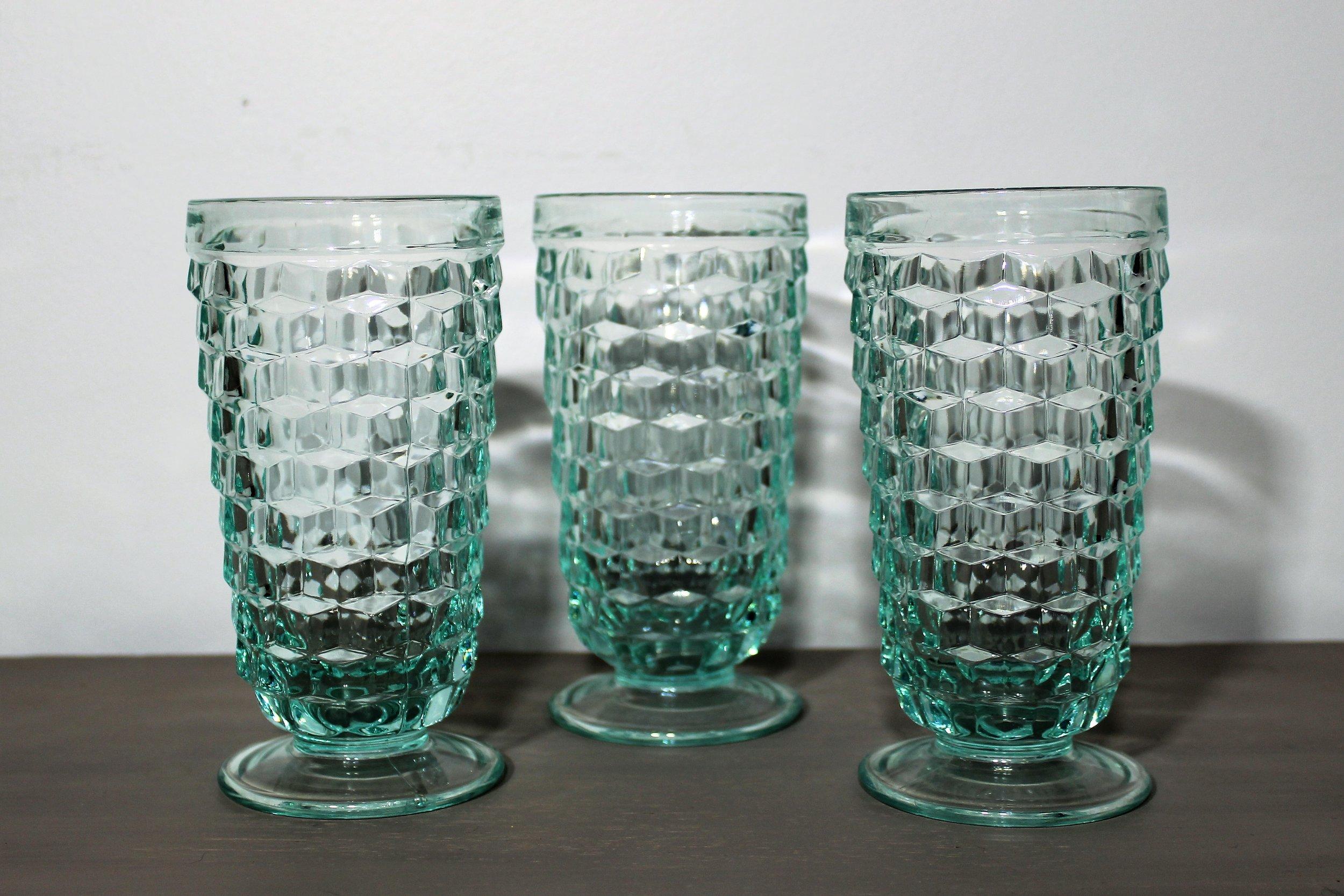 Aqua Goblets - Description ~ aqua water gobletsQuantity ~ 4Price ~ $2