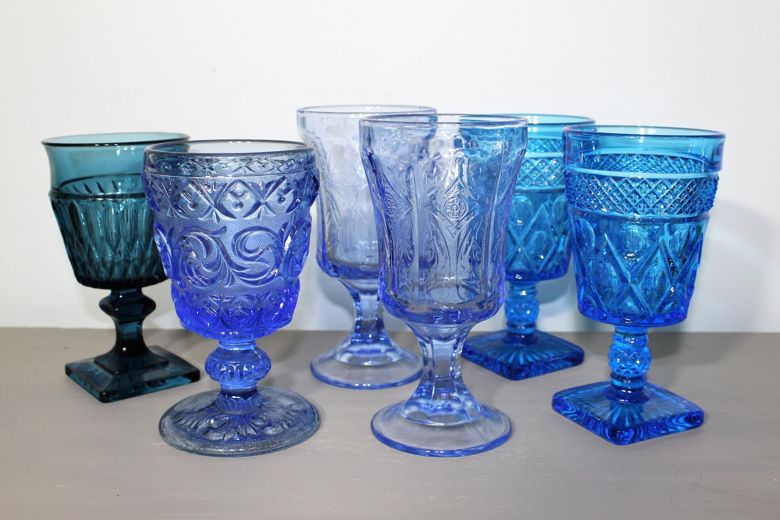 China And Glassware Al R Etc Events, Vintage Blue Glassware