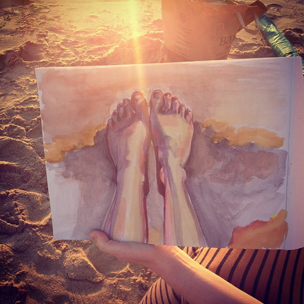 Beach Feet (watercolour)