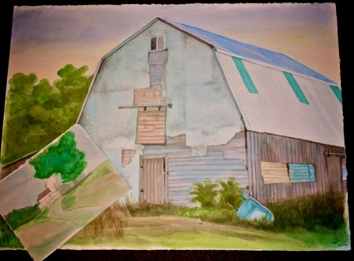Family Farm commission (watercolour)