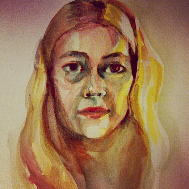 Self Portrait (watercolour)