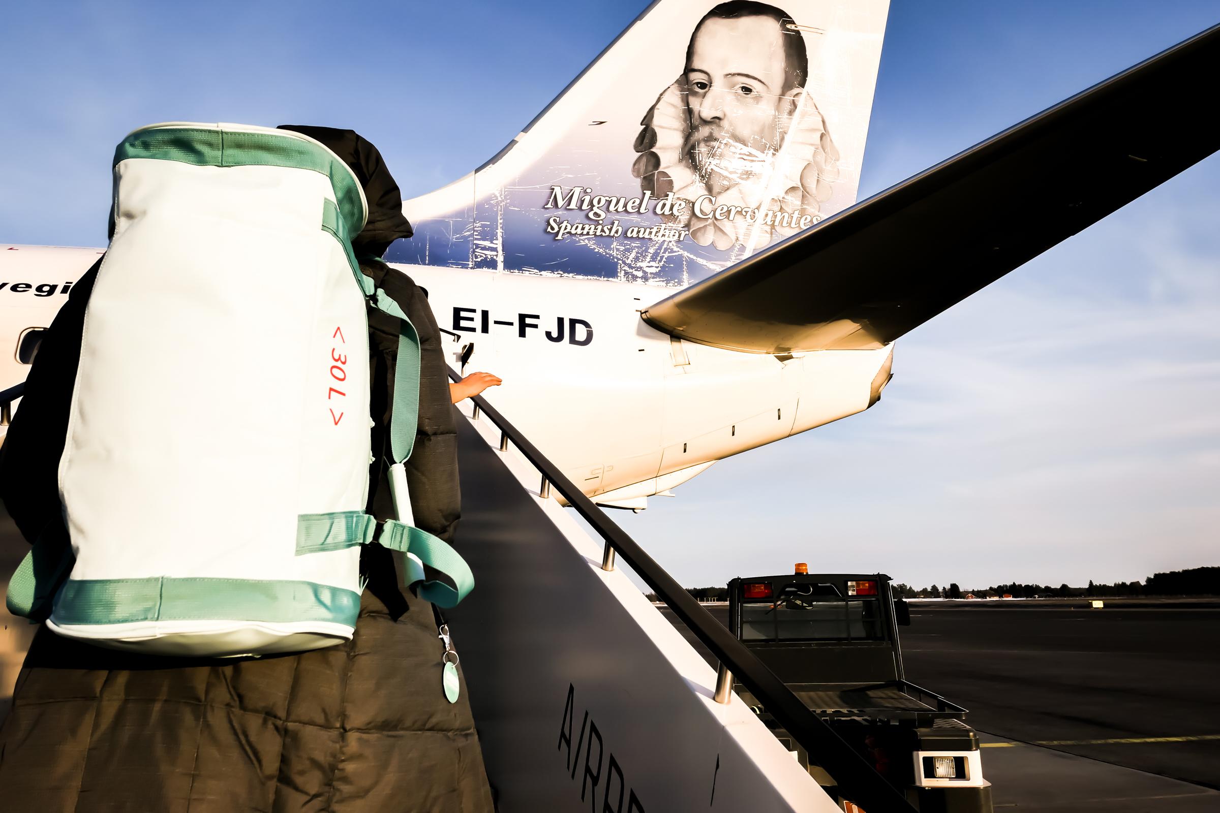 boarding the Jet to hELSINKI..