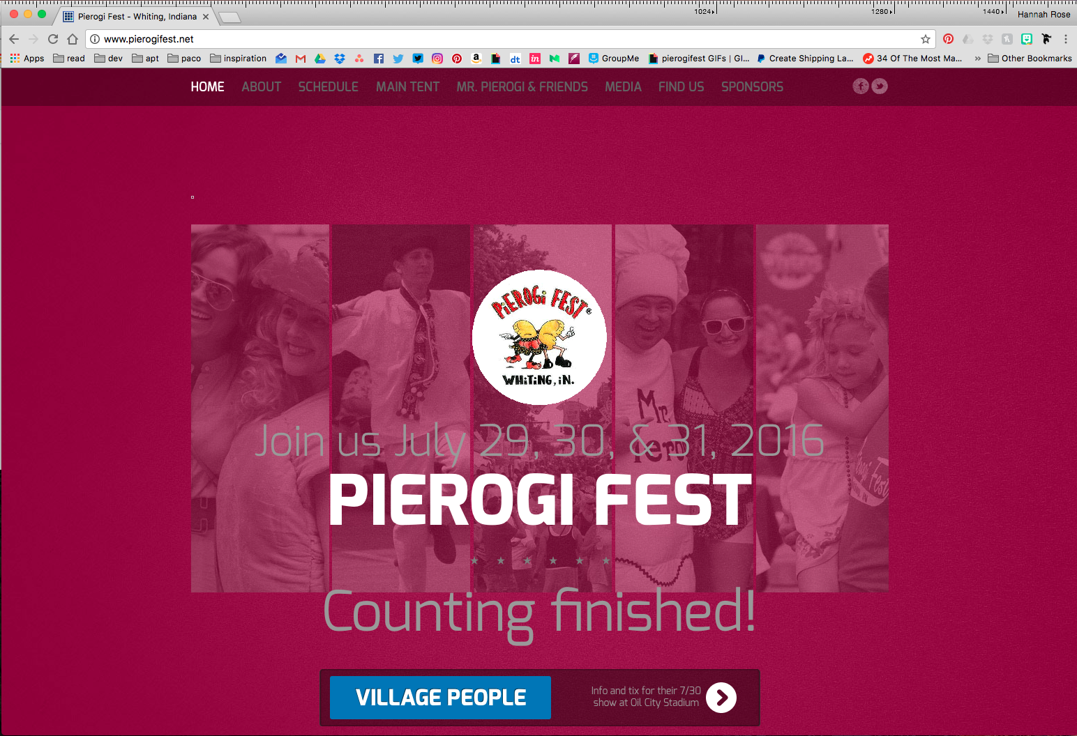 The original Pierogi Fest® website.