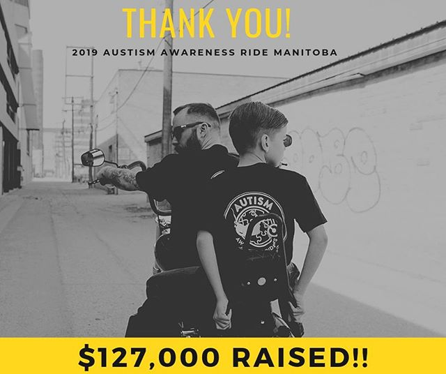 Huge thank you once again to all the sponsors, riders, volunteers and supporters🙌 We successfully tripled last year's amount raised and could not have done it without you all! $127,000 was donated to St.Amant for their Leisure Guide, a program that supports children and adults with Autism! What a ride it was, thank you for making #aar2019 a huge success😊 . . . #autismawareness | #thankyou
