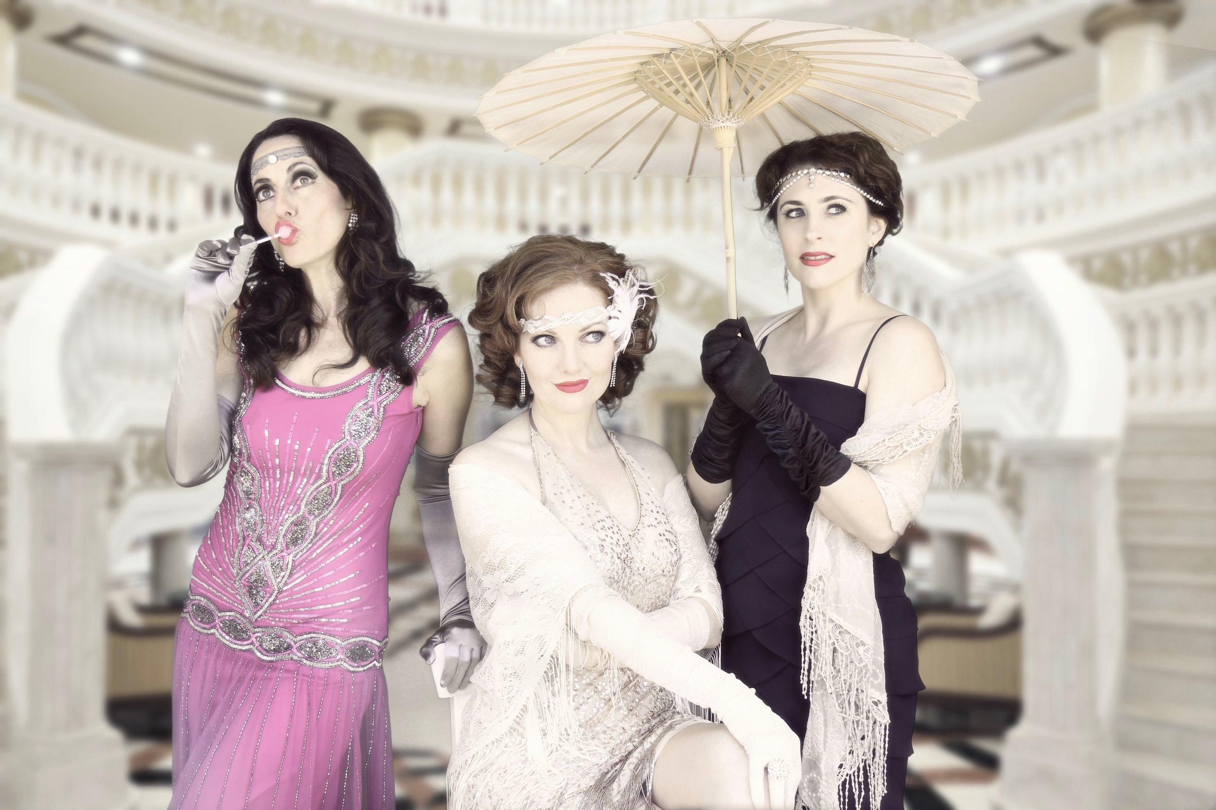 Simone, Kara and Ashleigh 1920s  Photo credit: Nicholas Maude