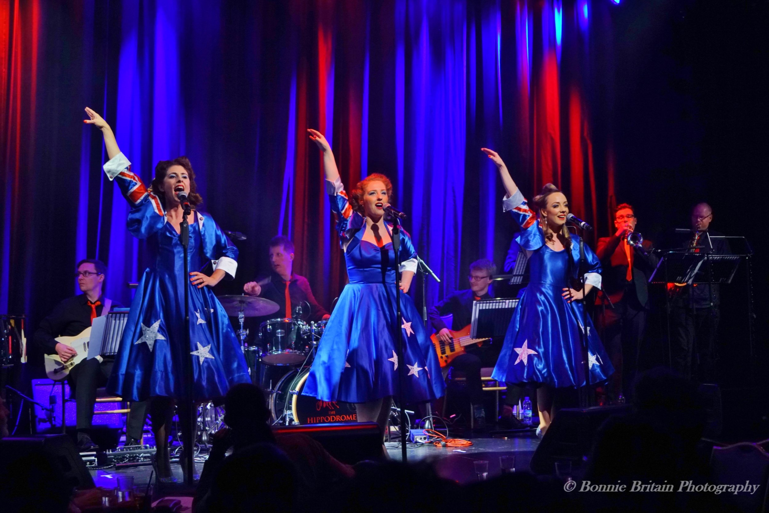 Ashleigh, Natasha and Sally at Live at the Hippodrome  Photo credit: Bonnie Britain