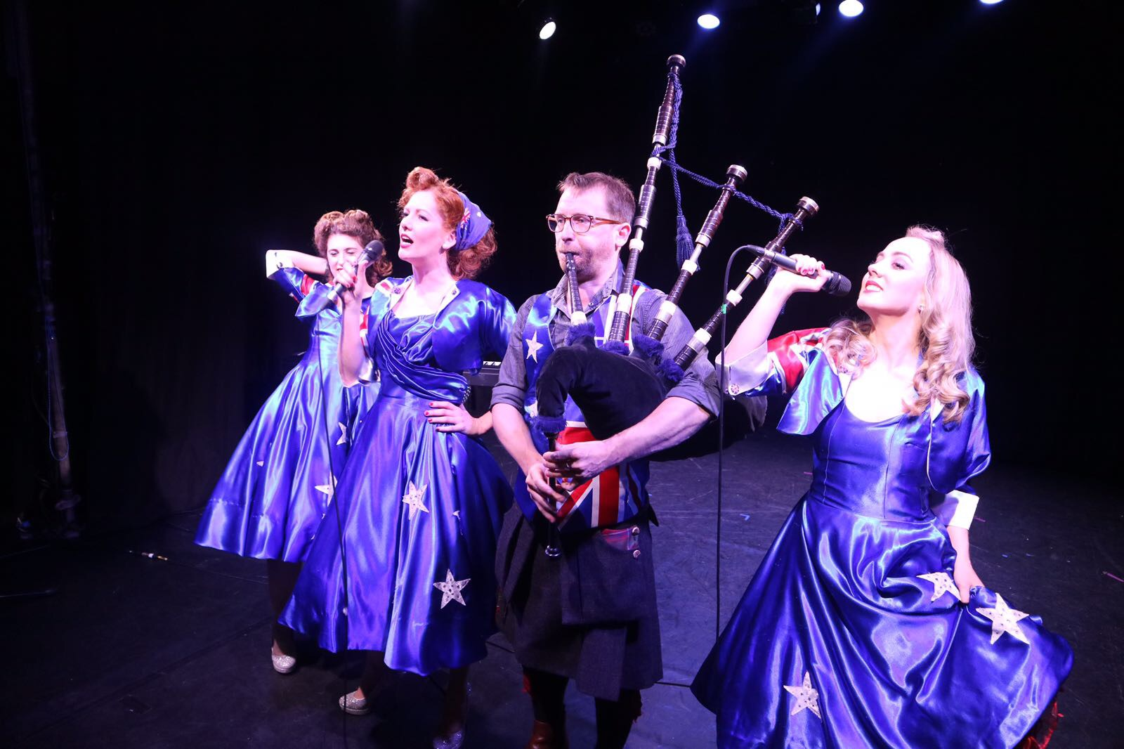 Ashleigh, Kara, David Colvin and Sally  Photo credit: Sally White Creative
