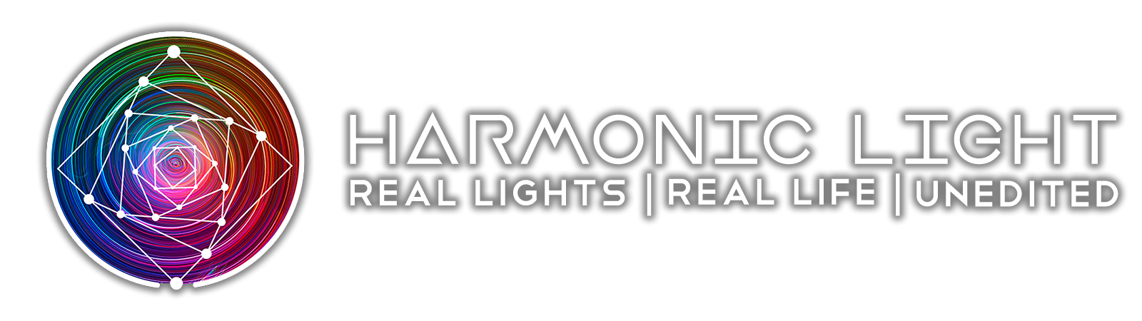 Harmonic Light Horizontal White text + color DROP SHADOW.png