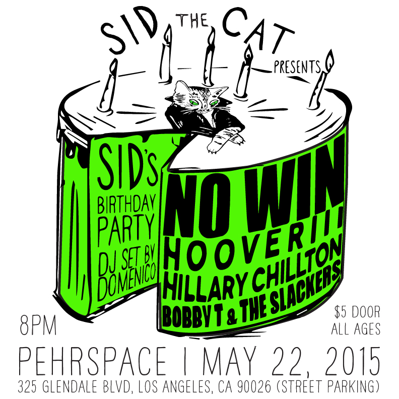 NO WIN on MAY 22, 2015 was our first show.