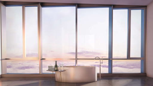 181 Fremont penthouse master bath rendering