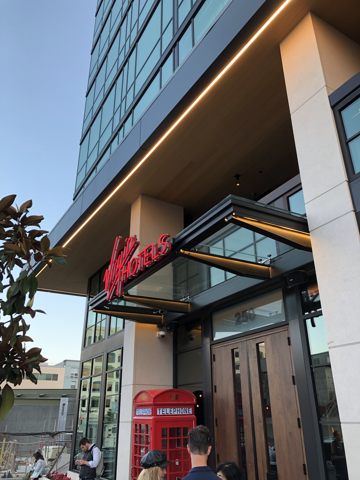 Virgin hotel Entrance, San Francisco