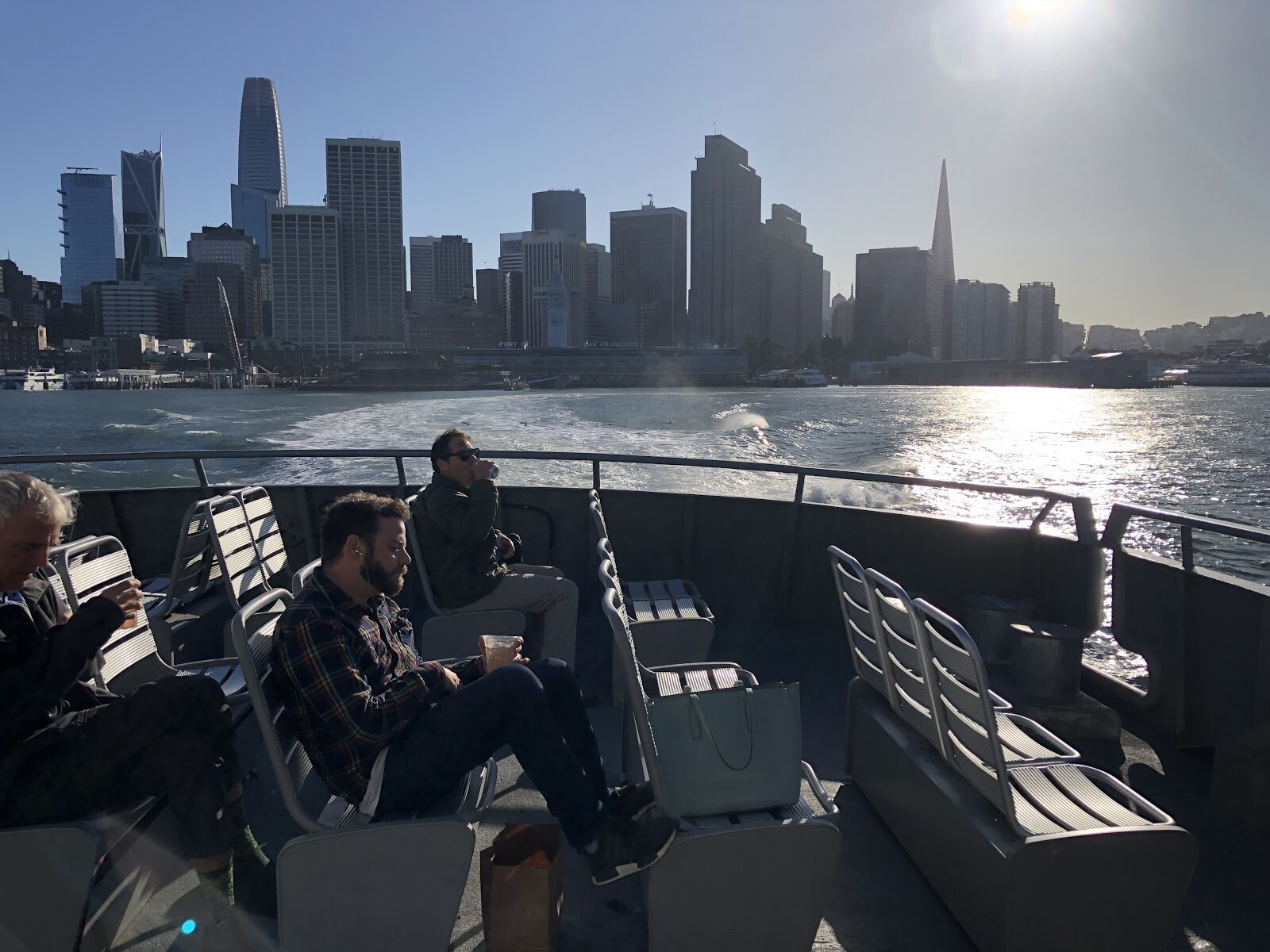 Top deck of SF Ferry