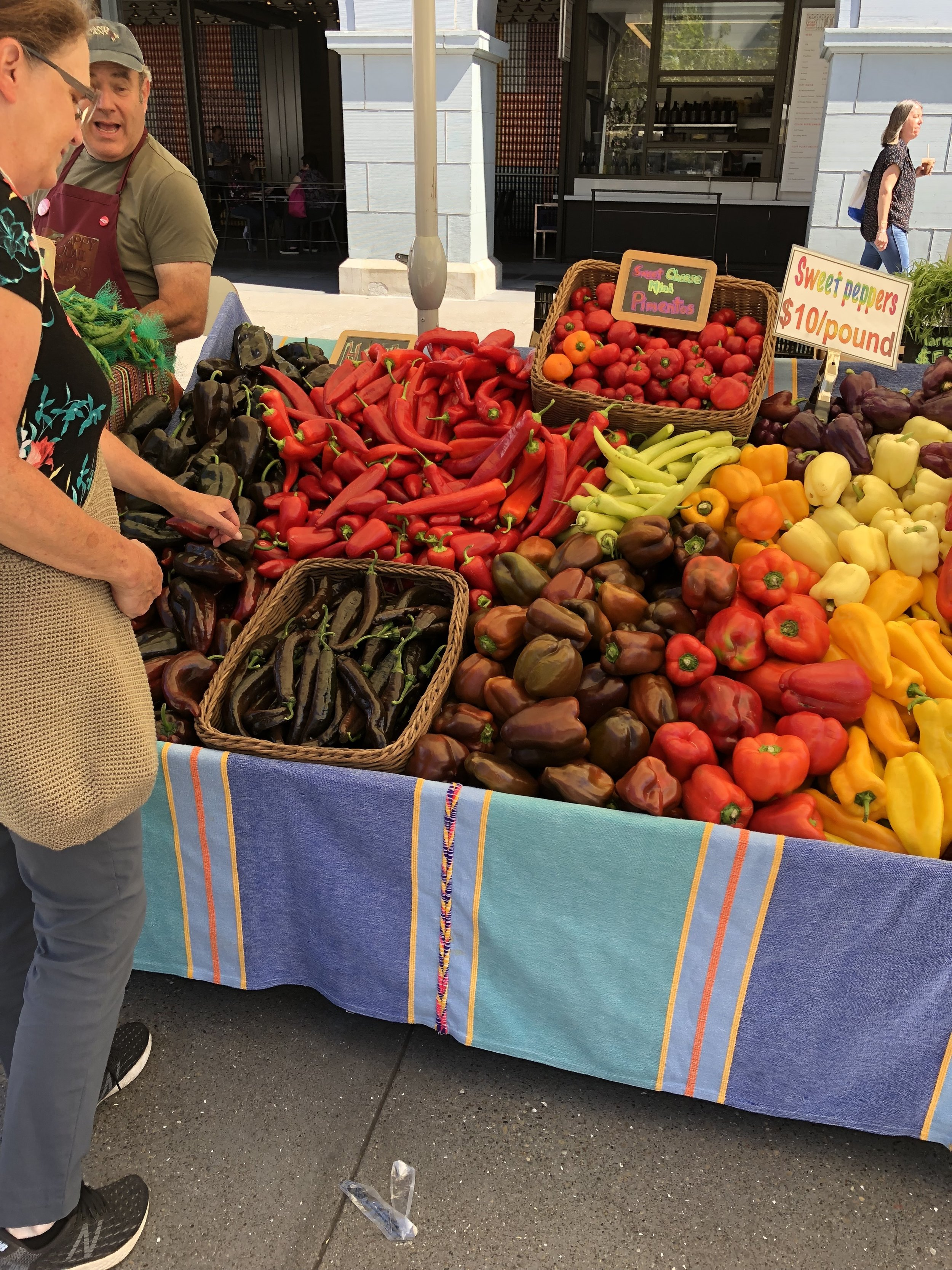 Farmers Market in front of the Ferry Building in San Francisco