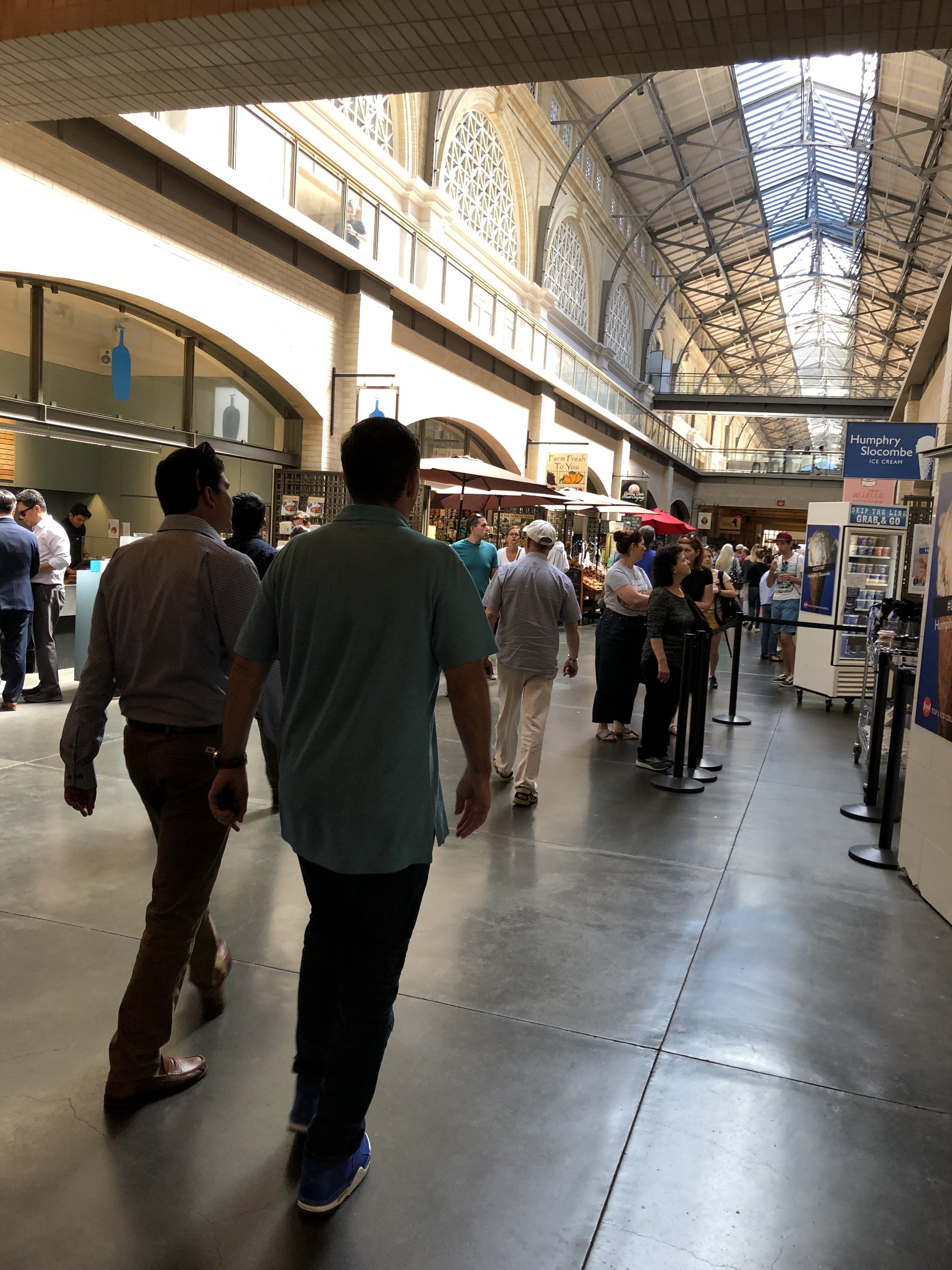 Inside the Ferry Building in San Francisco