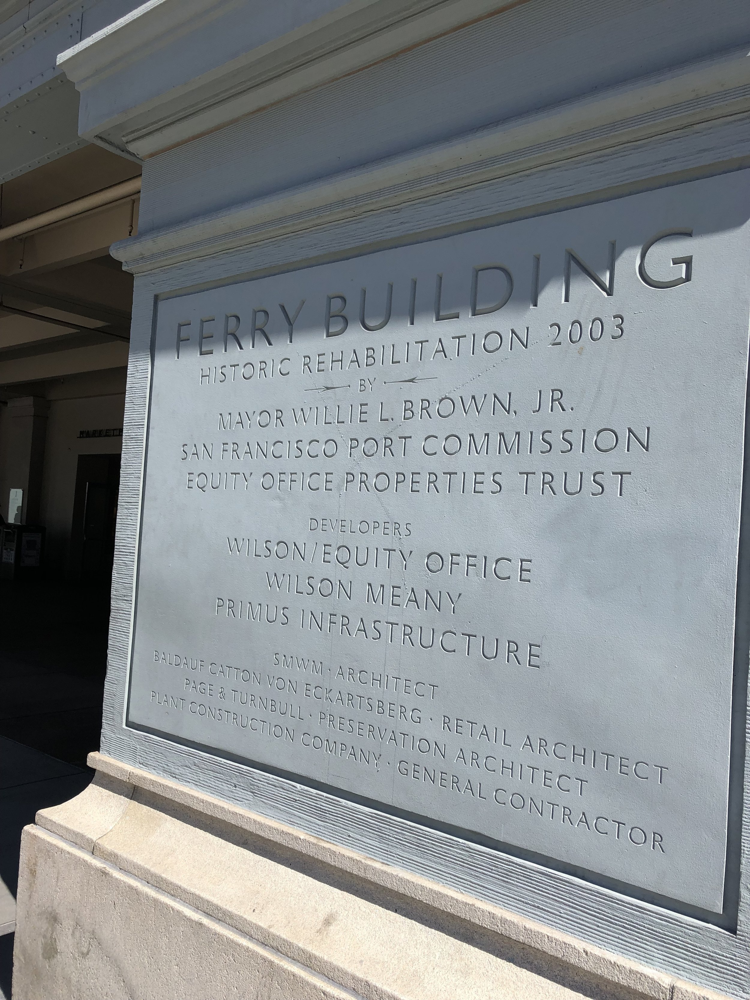 The Ferry Building memorial in San Francisco