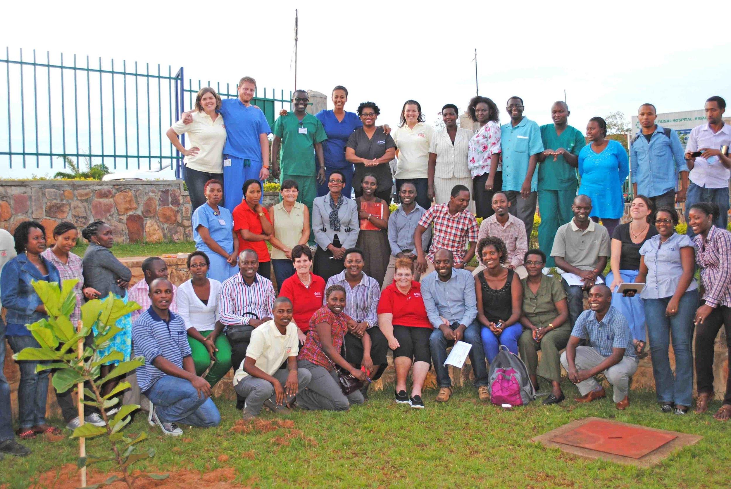 ACLS Graduating class (students and instructors).