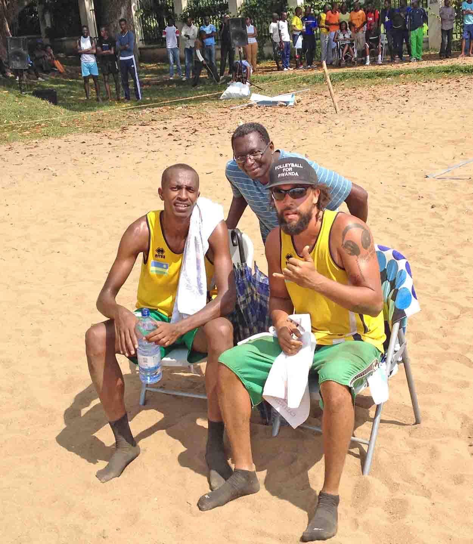 Supporting my son's beach volley ball in Gisenyi - Rwanda.JPG