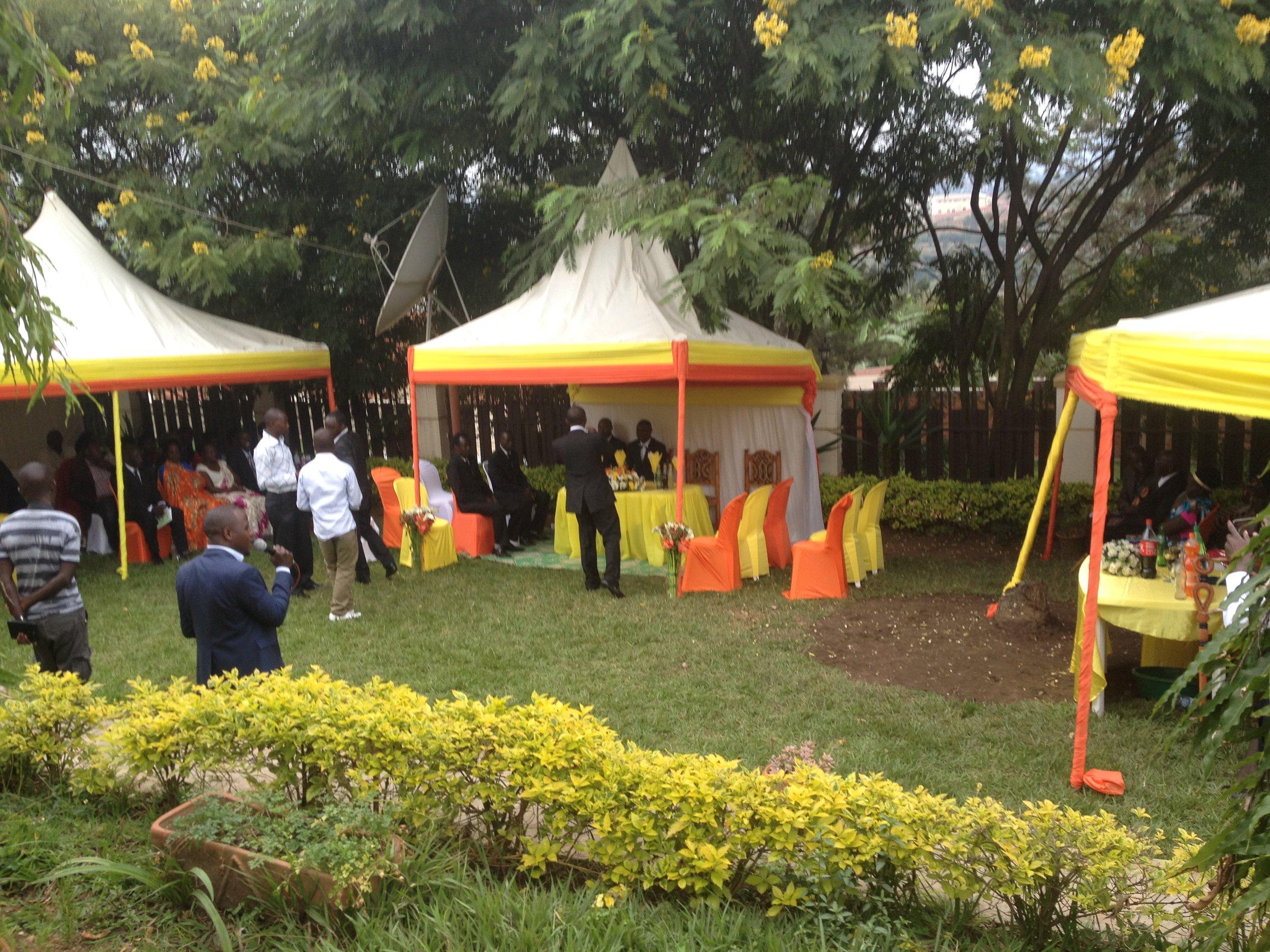 Wedding set up in Rwanda - Kigali.JPG