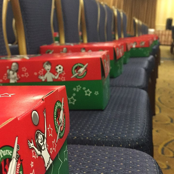 Hey#nefusion17pack a shoebox and spread good news! Follow @operationchristmaschild to learn more!