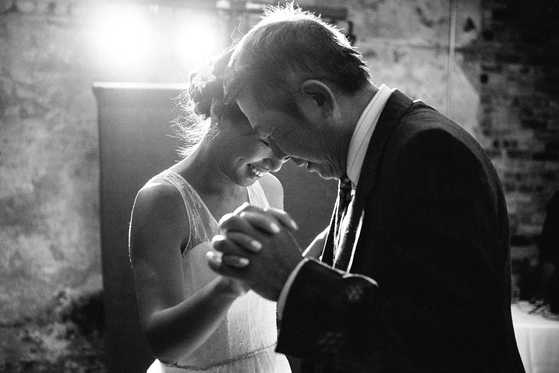 Bride and her father dance at the reception in Minneapolis