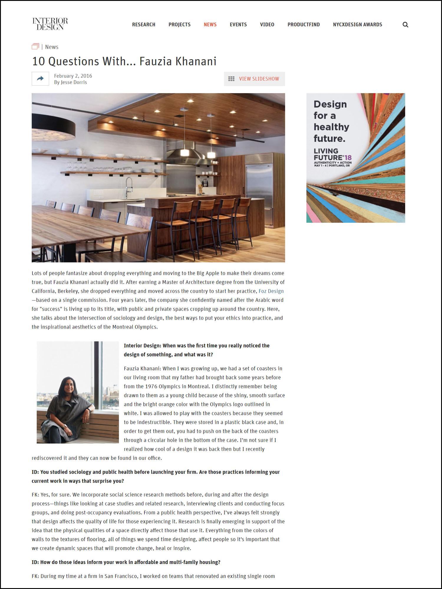 Interior Design Magazine -