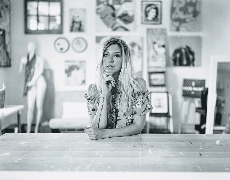 Maggie Hall in her nvrlnd. studio  Photo By: Wyatt Bronson