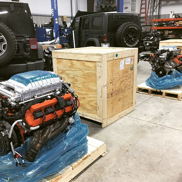 Look what the cat dragged in! Two more Hellcat Wrangler conversions on the way.  #hellcat #wrangler #jeep #hemi #jk #jl #beef