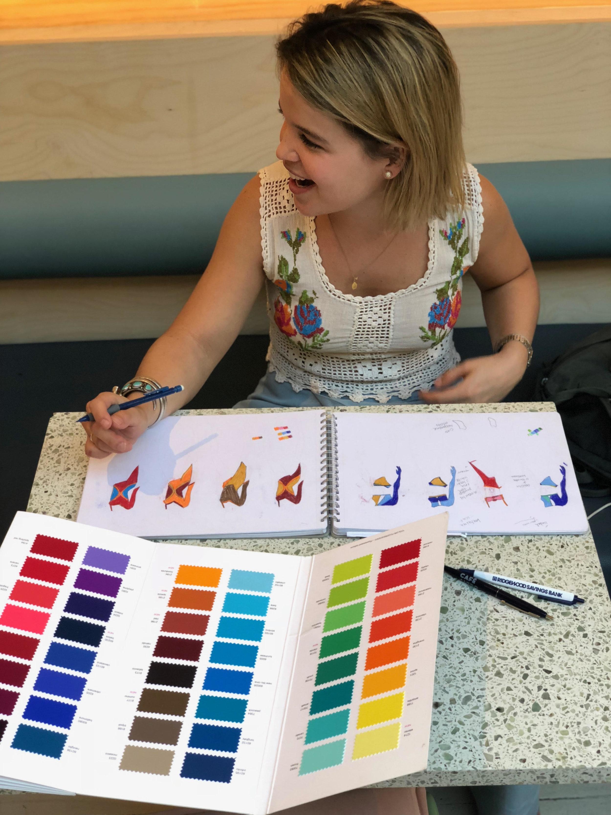The designer, Maria Luisa Mendiola